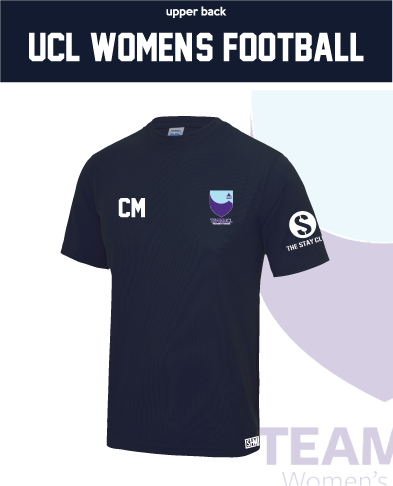 UCL Womens Football Navy Performance Tee (All Print)